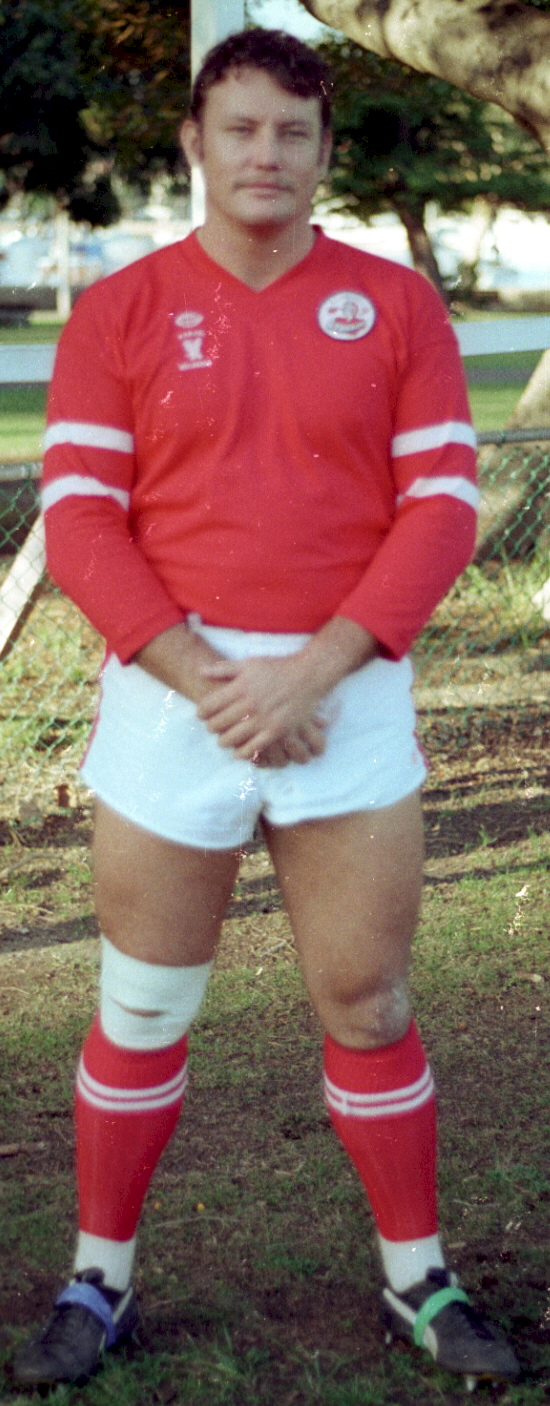 Cst 1/C Peter Carter, Warilla HWP. Playing Police Football for Wollongong on 20 April 1983 at Rose Bay.