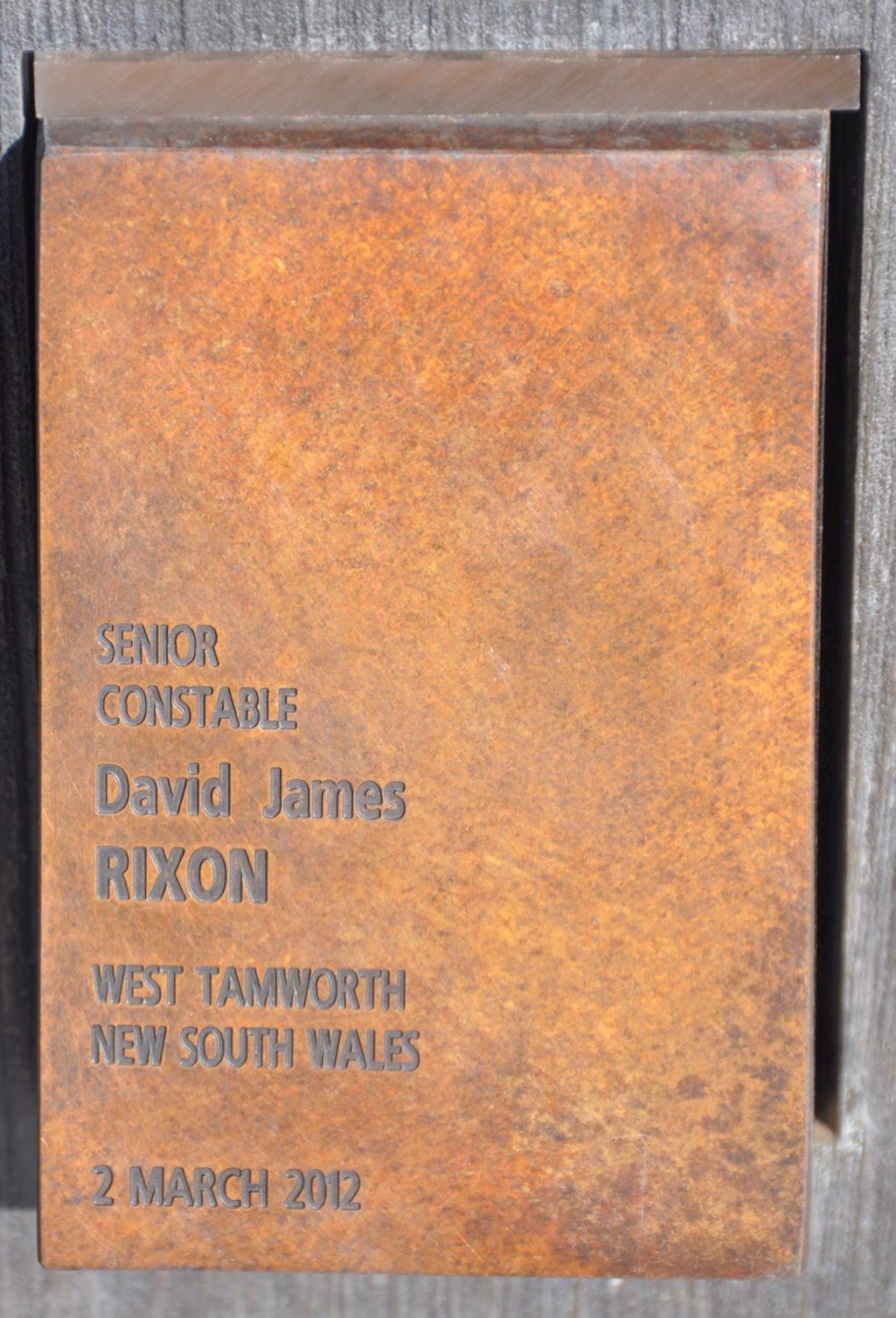 David James RIXON - touch pad at National Police Wall of Remembrance, ACT