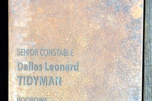 Dallas Leonard TIDYMAN memorial touch plate at Canberra Wall of Remembrance