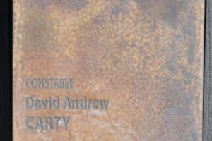 Constable David Andrew CARTY touch pad at the National Police Wall of Remembrance, Canberra.