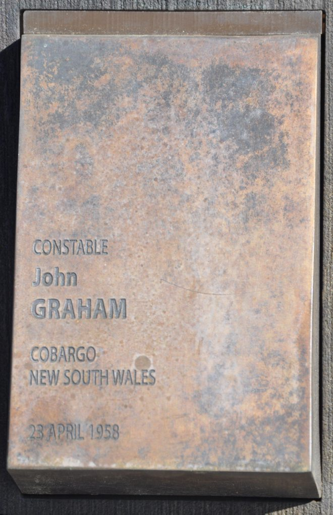 Constable John GRAHAM, Cobargo, NSW, 23 April 1958