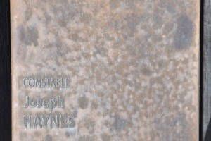 Constable Joseph HAYNES touch plate at the National Police Wall of Remembrance, Canberra.