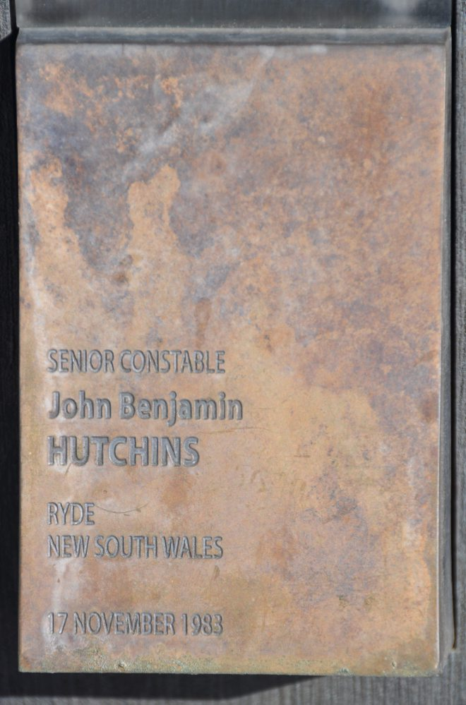 Senior Constable John Benjamin HUTCHINS