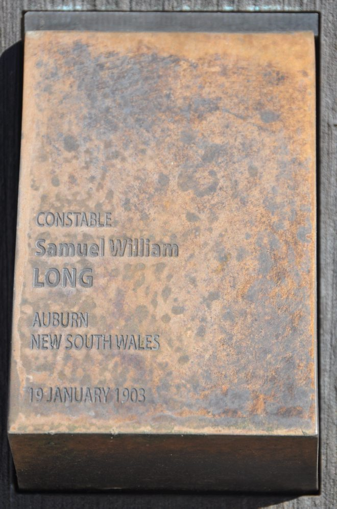 SAMUEL WILLIAM LONG CONSTABLE NSWPF MURDERED - SHOT 19 JANUARY 1903 https://www.australianpolice.com.au/samuel-william-long/