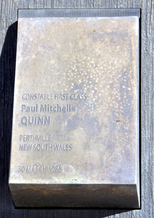 Police Wall of Remembrance - touch plate for Paul Mitchell QUINN