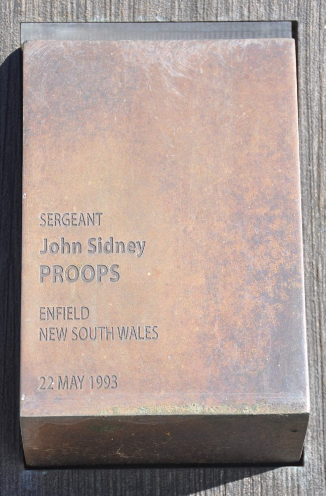John Sidney PROOPS, Police National Wall of Remembrance touch pad.