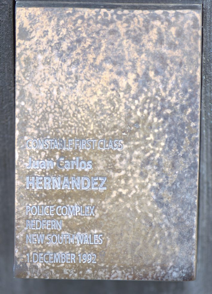 Touch Plate at the National Police Wall of Remembrance, Canberra - HERNANDEZ
