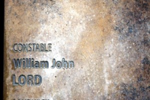 William LORD - Touch Plate at National Police Wall of Remembrance