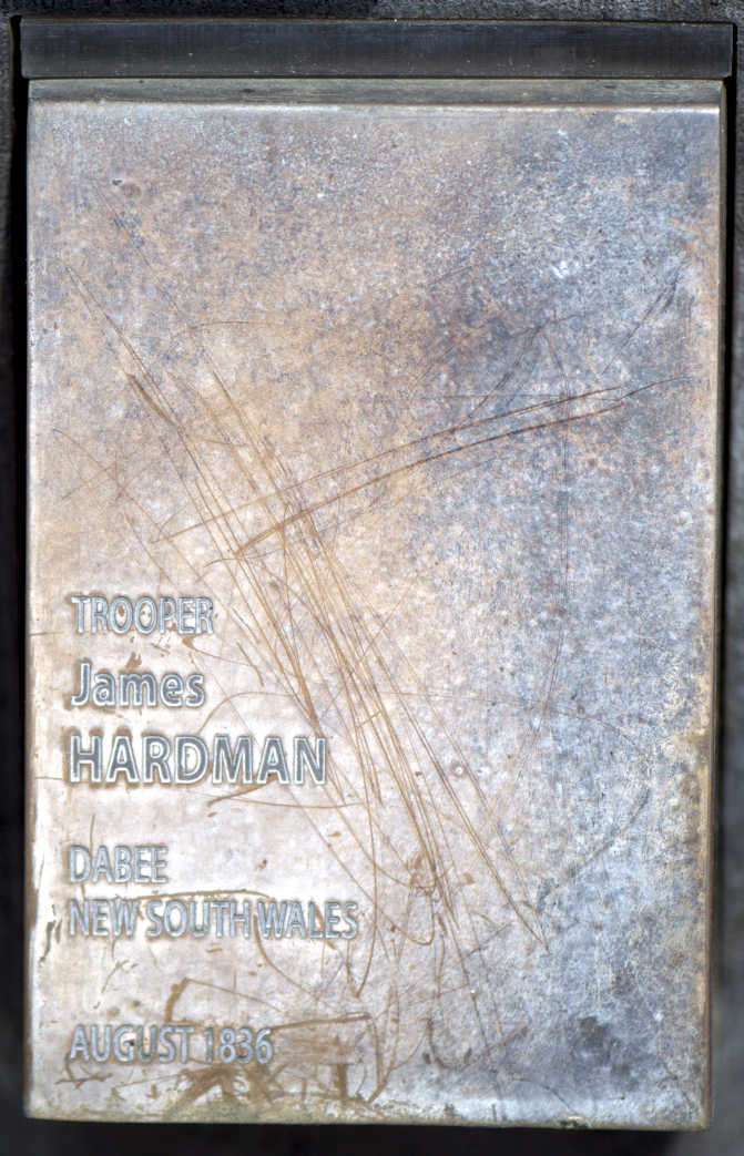 NSW Trooper James HARDMAN touch plate at the National Police Wall of Remembrance.