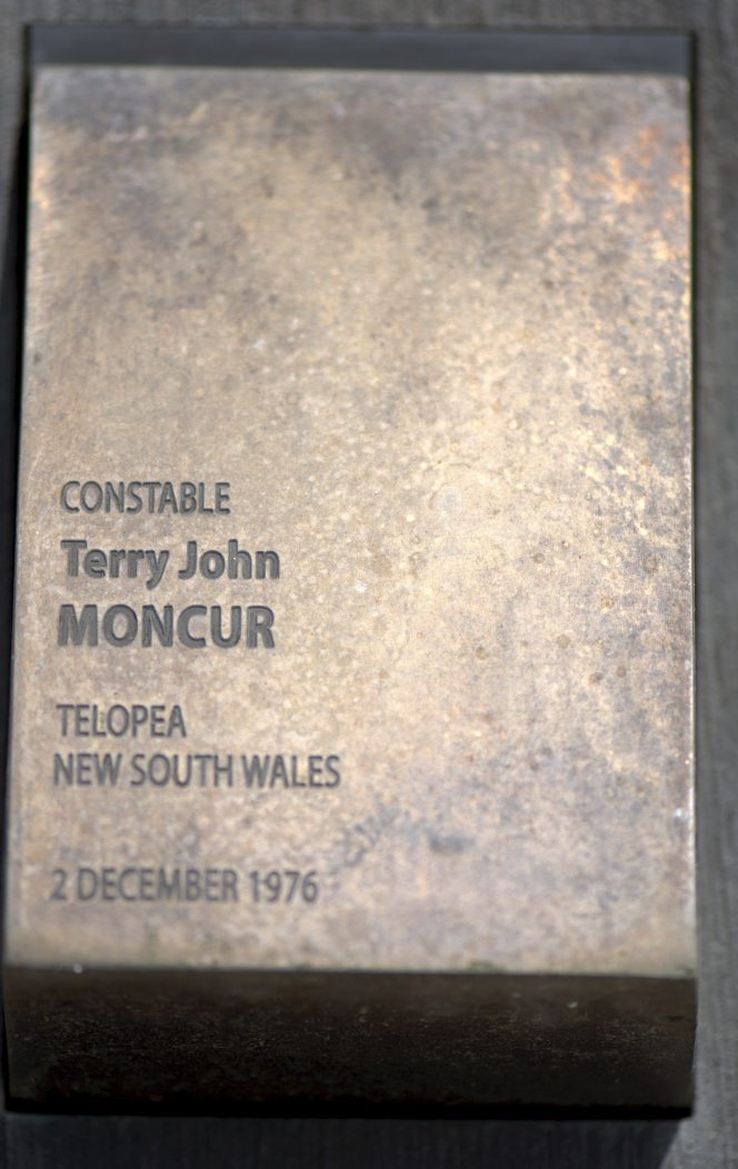Touchplate at the National Police Wall of Remembrance