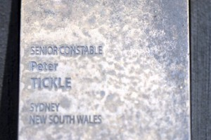 """CANBERRA - NATIONAL POLICE WALL OF REMEMBRANCE TOUCH PLATE. NSWPF SUICIDE THAT """" IS """" MENTIONED ON THE POLICE WALL OF REMEMBRANCE."""
