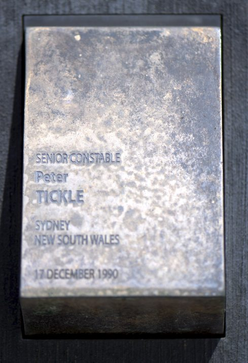 "CANBERRA - NATIONAL POLICE WALL OF REMEMBRANCE TOUCH PLATE. NSWPF SUICIDE THAT "" IS "" MENTIONED ON THE POLICE WALL OF REMEMBRANCE."
