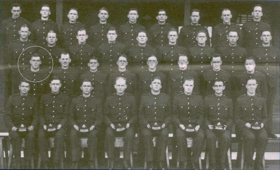 Senior Constable ( Sergeant 3rd Class ) Allen William NASH, Shot at Prmbee on 16 August 1956 and died on 22 August 1956.1939 Police Academy class photo with NASH being first on the left in second row from front ( circled ).