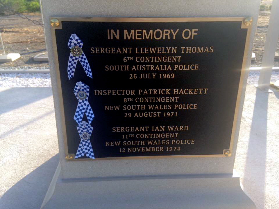 17 June 2017 – Malaysia Memorial in Cyprus taken today as Australian Police complete the long mission and are leaving Cyprus.