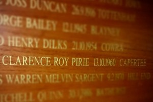 Clarence Roy PIRIE 13.10.1960 Wall Plaque, Chifley L.A.C.