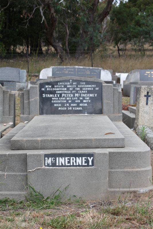 Constable Stanley Peter McInerney - gravestone