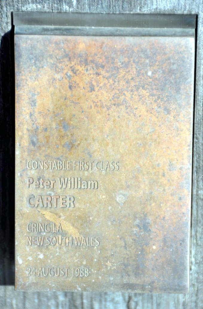 Peter Carter Touch Plate - National Police Memorial