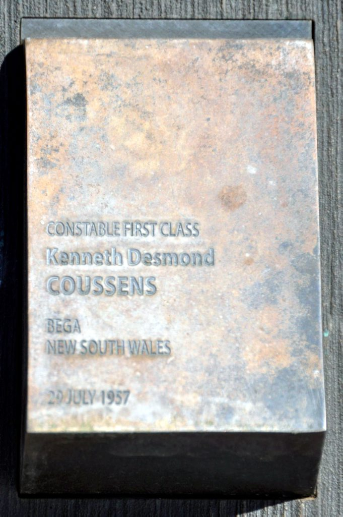 Kenneth Desmond COUSSENS touch plate in Canberra