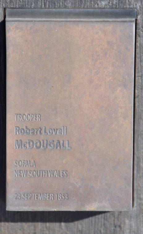 Robert Lovell McDOUGALL, Trooper McDOUGALL