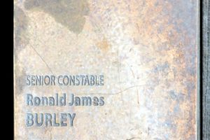 Touch plate at the National Police Memorial, Canberra for Ronald James BURLEY