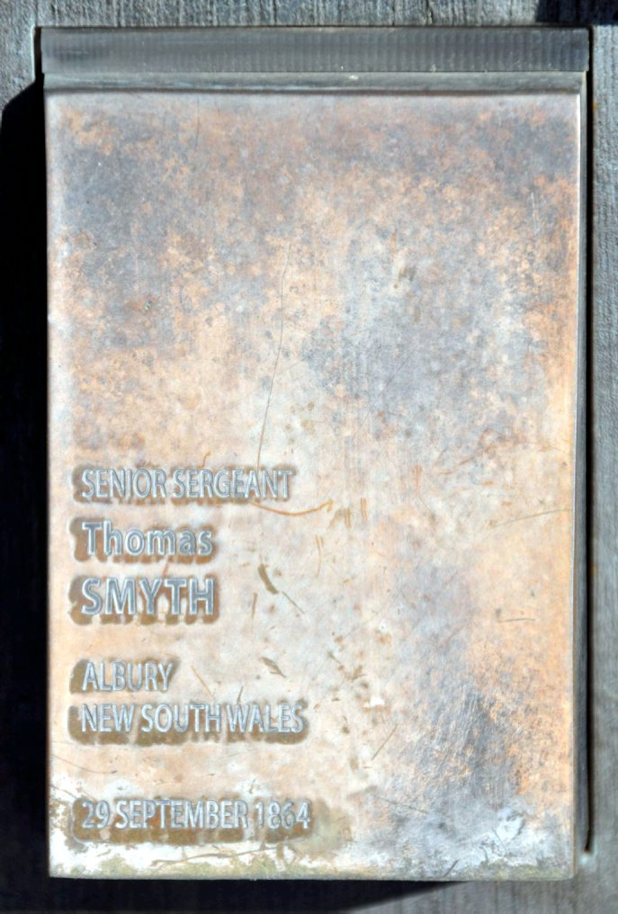 Thomas SMYTH touch plate at the National Police Memorial - Canberra