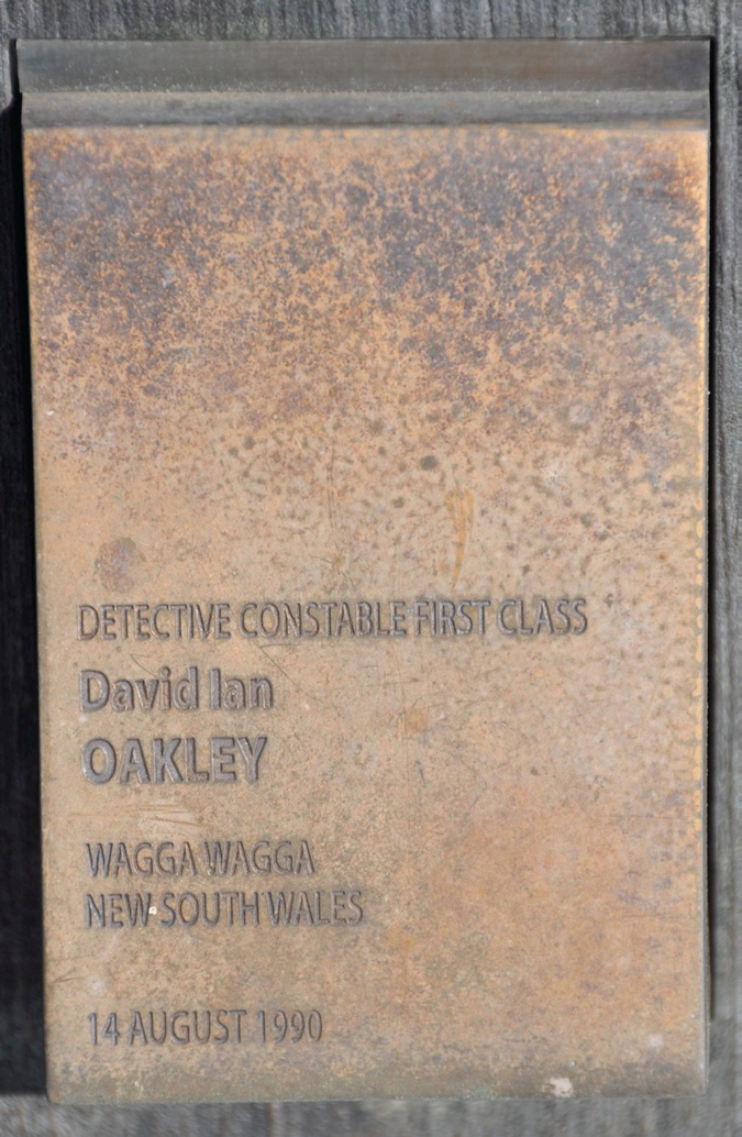 Touch plate for David Ian OAKLEY at the National Wall of Police Remembrance, Canberra.