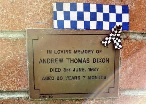 Andrew Thomas DIXON. Plaque condition as of 8/9/2020