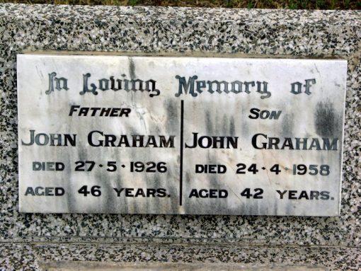 John GRAHAM - Grave