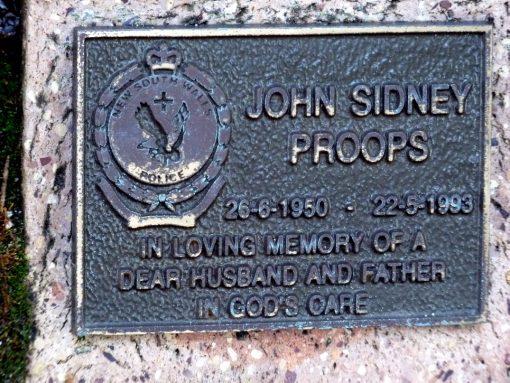 John Sidney PROOPS . Henry Lawson Garden Walk E, # 12.