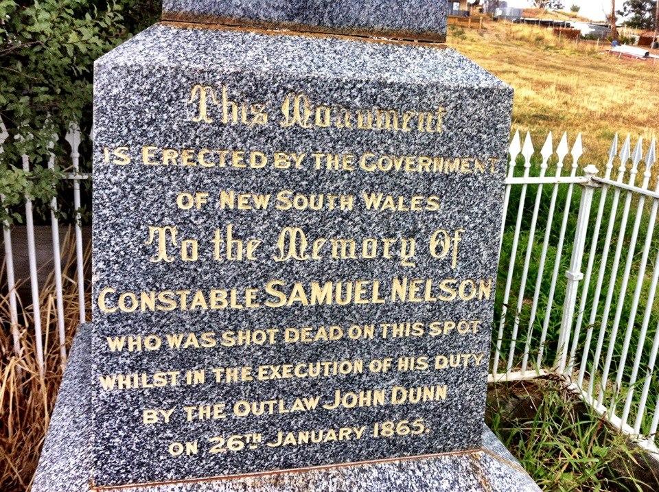Constable Samuel NELSON - gravestone