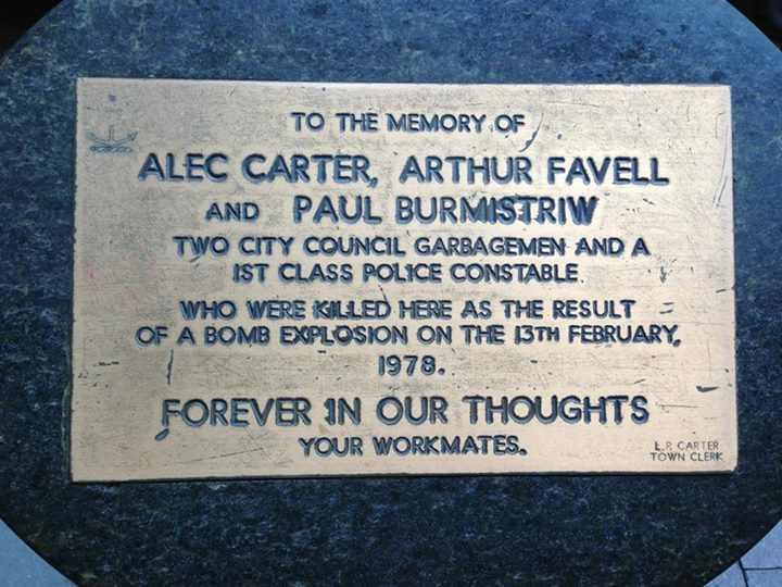 Cst 1st Class Paul Burmistriw - Bomb explosion - 13 Feb 1978 - Roadside memorial - 02