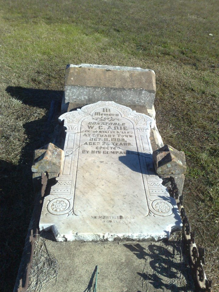 Cst William Cochrane ADIE - Horse accident - 11 Oct 1908 - Grave 02