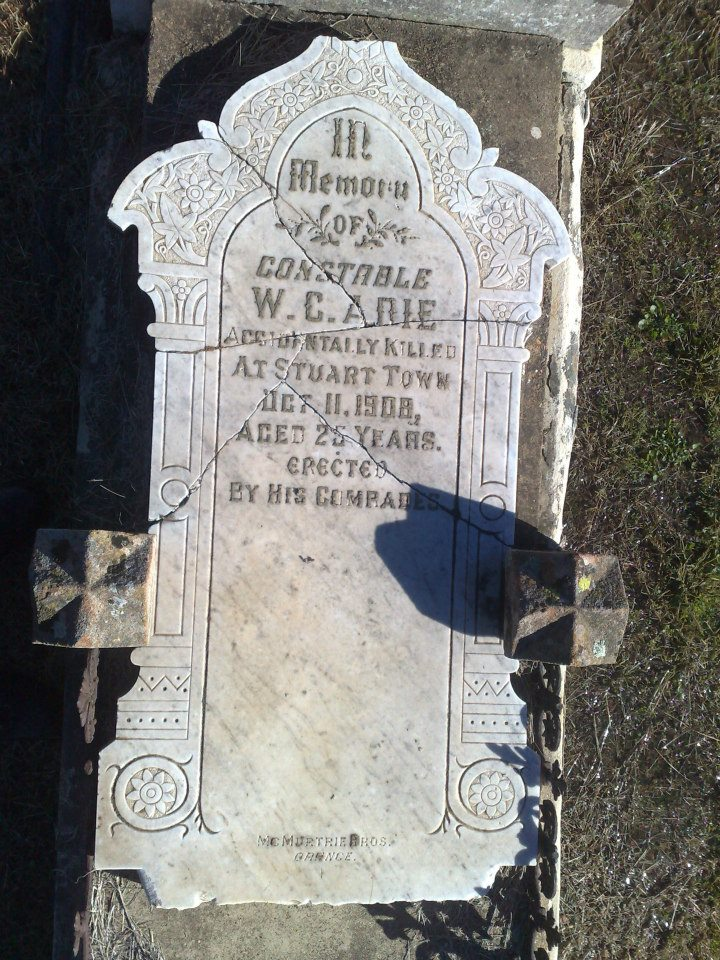 Cst William Cochrane ADIE - Horse accident - 11 Oct 1908 - Grave 03