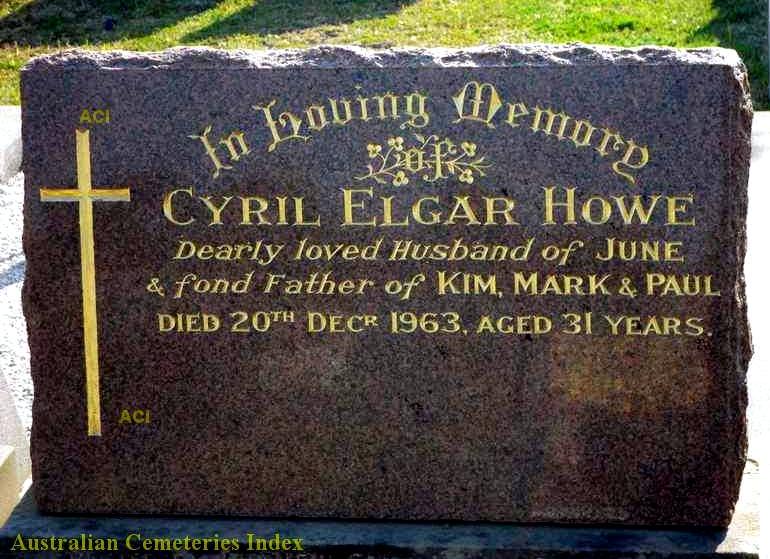 Cyril Elgar HOWE grave
