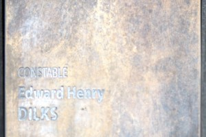 National Police Wall of Remembrance touch pad for Constable Edward Henry DILKS.