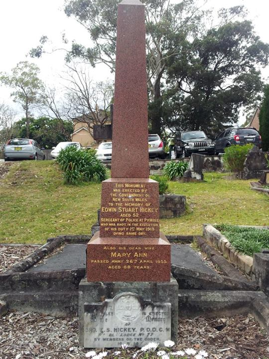 Edwin Stuart HICKEY - Grave St John's ( Anglican ) Cemetery, 754 Pacific Hwy, Gordon, NSW. Ref: CC17