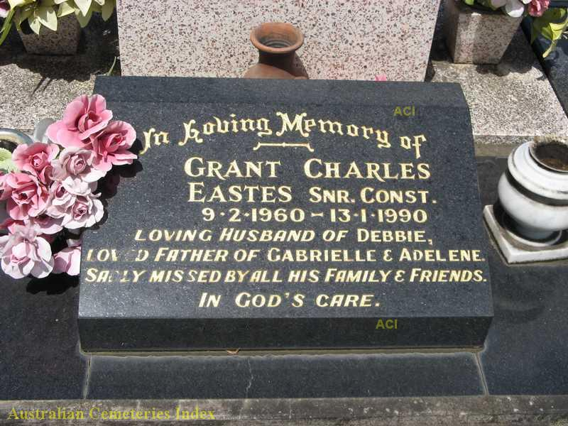 Senior Constable Grant Charles EASTES - Grave. Casino Lawn Cemetery, NSW.