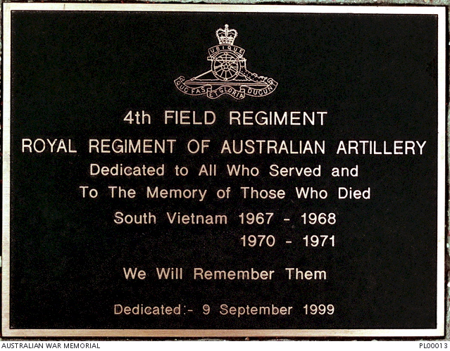 4 Field Regiment, Royal Regiment of Australian Artillery