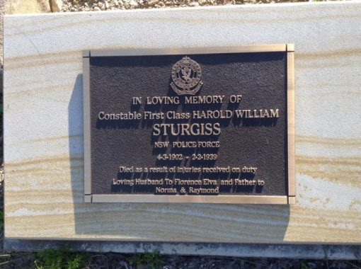 Harold William STURGISS - as seen by Col Colam on Friday 28 August 2020.