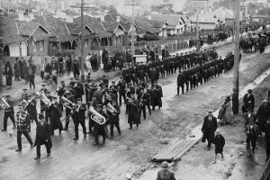 Funeral procession of Constable Lees at North Sydney