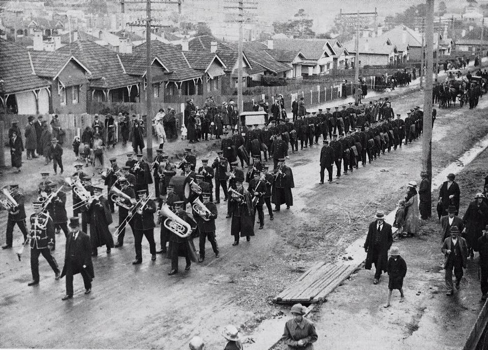 Funeral procession of Constable Leeds at North Sydney