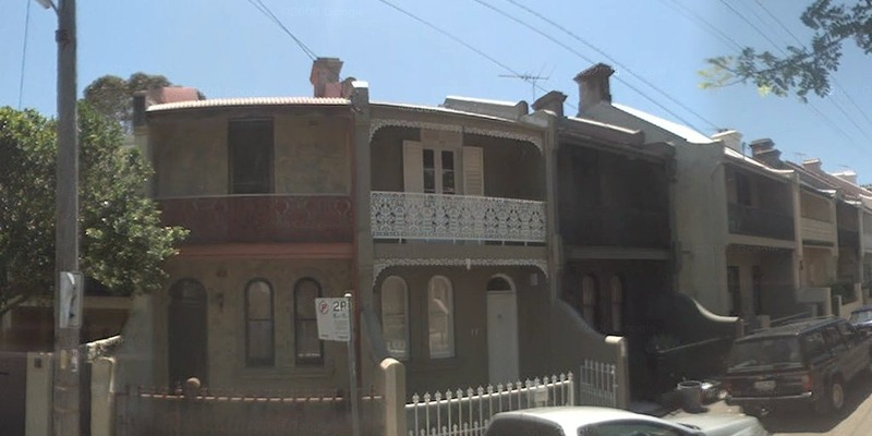 117 Underwood St, Paddington. Home of Senior Constable Henry MURROW when he was murdered in October 1897.