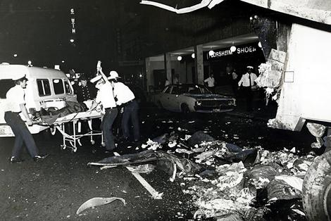 The scene of the Hilton Hotel bombing on George Street, Sydney. SUPPLIED.