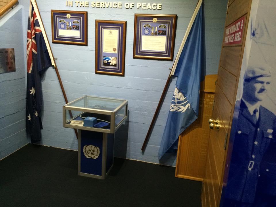 Ian's memorial at the Goulburn Police Academy.