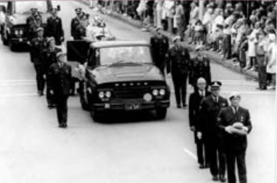 1974 - the funeral for Sergeant Ian Ward