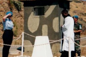 2003 Police Remembrance Day is marked with a ceremony at the cairn erected in memory of Sergeant Ian Ward.