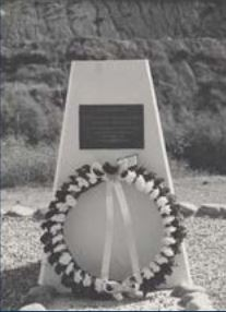 Memorial to Ian WARD - unveiled in 1985