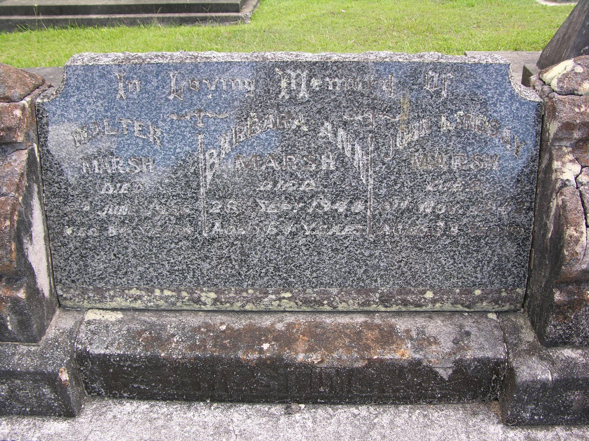 John Lindsay MARSH Maclean General (Anglican). Cameron Street, Maclean. GPS 29 27' 58S / 153 123' 07E