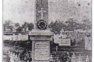 John Mitchell - Photo Obelisk erected by the Government on the grave of John Mitchell in the old Coonamble Cemetery - no longer in existence.