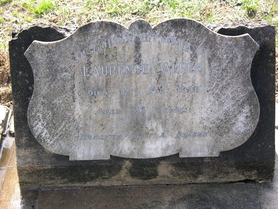 Laurence ALPEN  -  Grave